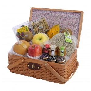 Deluxe Fresh Fruit and Honey Hamper